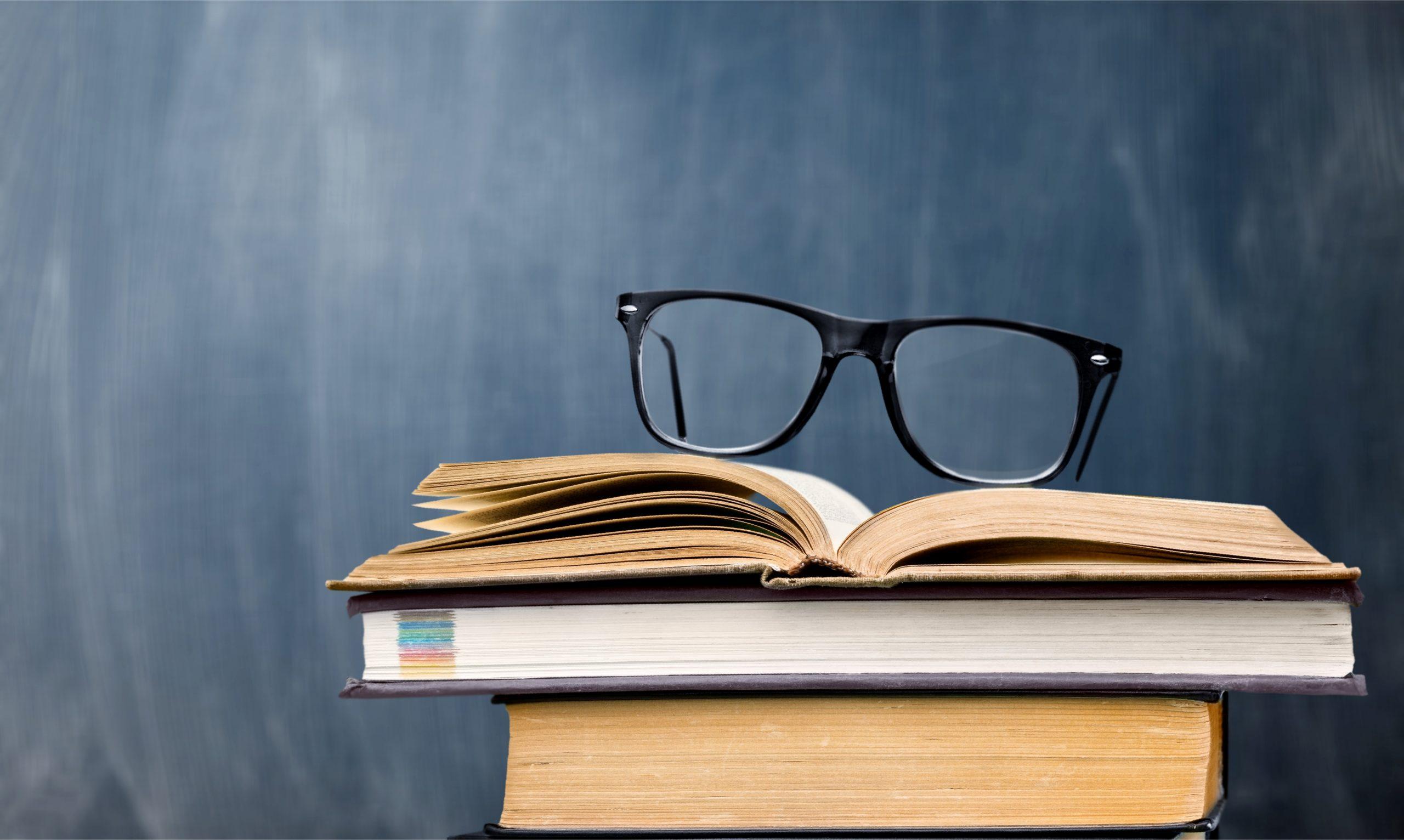 Dark Blue Book Glasses
